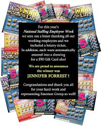 Jennifer Forrest Winner Of Emerson Group S 50 Gift Certificate