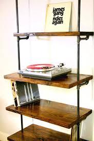 industrial vinyl record storage shelf unit modern bookcase throughout records shelves prepare 19