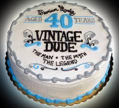 40th Birthday Cake Vintage Sweet Somethings Desserts