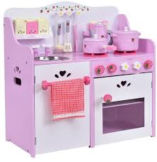 kitchen toy strawberry pretend cooking playset toddcostway kids wooden play set