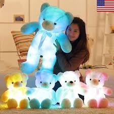 <b>New LED</b> Teddy Bear Stuffed Animals Plush <b>Soft</b> Hug Toy Baby <b>Kids</b> ...