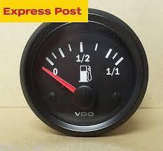 ford fuel gauges zeppy io vdo 52mm 12v fuel gauge suit early holden ford 73 10 ohms brand new