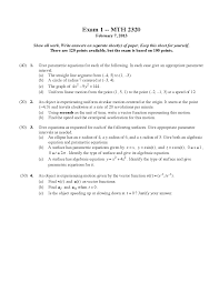 give parametric equations for each of the followin