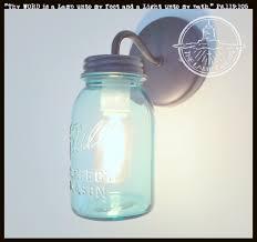 Light Blue Mason Jars Vintage Twist On Blue Mason Jar Sconce Lighting Fixture