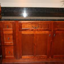 Natural Cherry Shaker Kitchen Cabinets Medallion Hickory Shaker