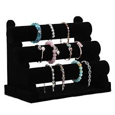 Black Velvet Jewelry Display Stands Amazon Wuligirl Bracelet Holder Jewelry Display Stand Watch 52