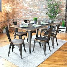industrial dining set incredible 7 piece dining set reviews birch lane industrial dining room chairs plan