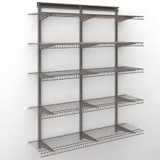 closetmaid shelftrack 4 ft wire shelf kit com
