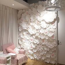 Paper Flower Wedding Decorations 84pcs Set Large Full Wall Giant Paper Flowers Wedding Backdrop