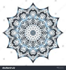 Fashion Surface Design Vector Hand Drawn Flower Symbol Illustration Stock Vector