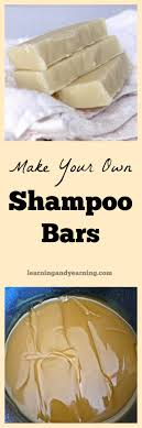 if you can make homemade soap then you can make shampoo bars they are