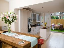 house design round pictures combining inside small remove en kitchen dining room decorating ideas