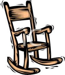 rocking chair clipart. Picture Of A Cartoon Wooden Rocking Chair In Vector Clip Art Illustration - Royalty Free Clipart