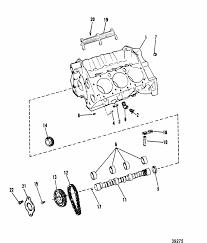 mercruiser 4 3l 2 barrel gm 262 v 6 1988 1992 cylinder block engine section