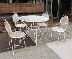 mid century wrought iron outdoor patio