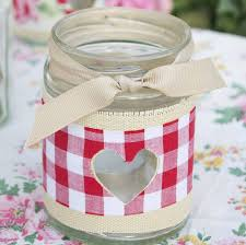 Decorate Jar Candles Festive Tea Light Holder Jam jar candles Jar candle and Gingham 95