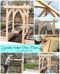 awesome wedding arch plans 1000 images about free arbor plans on garden arbor