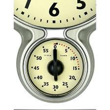 stainless steel retro kitchen clock w egg timer cream vintage streamline kit