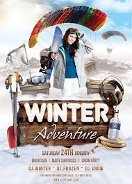 Winter Adventure Flyer Template By Brielldesign On Deviantart