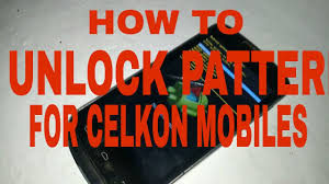 Celkon A20 mobile Pattern Unlock video ...