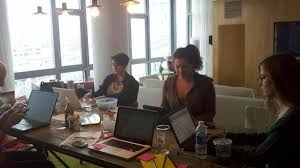 makeshift office. Flavorpill\u0027s Makeshift Office Is A Pretty Gorgeous Apartment In DUMBO, BK H