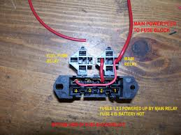 vortec 4 8 5 3 6 0 wiring harness info 1999 3 8 Transmission Wiring Harness fuse block starting out, main battery feed to relay and to batt hot fuse fuses 1,2,3 will be key hot Ford F-250 Transmission Wire Harness
