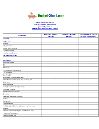 Expense Sheets Template Forms Templates Free Sheet Income Worksheet