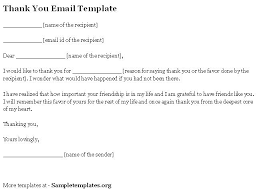 Email Thank You Letter Template Adorable Thank You Letter Email Template Ramautoco