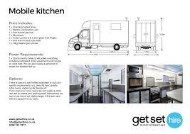 Mobile Kitchen Equipment Get Set Hire Mobile Kitchen Get Set Hire