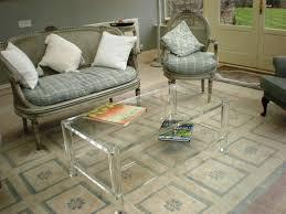 Image of: Clear Acrylic Coffee Table IKEA