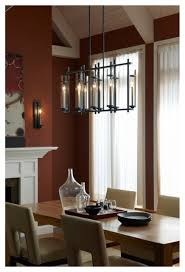 linear dining room lighting. modern industrial chic iron linear chandelier with cylinder glass contemporarydiningroom dining room lighting