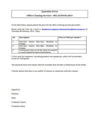 Service Quotation 6 Cleaning Quotation Samples Templates In Pdf