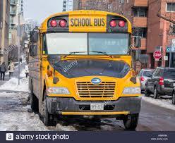 Toronto Kanada 21 Dezember 2016 Blue Bird Vision School Bus