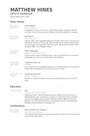 40 Tax Preparer Resume Templates Try Them Now MyPerfectResume Resume Amazing Myperfect Resume