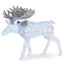 Outdoor Lighted Moose Pre Lit Moose Decoration Lighted Display