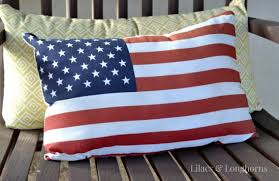 DIY American Flag Pillow Lilacs and LonghornsLilacs and Longhorns