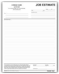 Quote Forms For Contractors Estimate Forms Rome Fontanacountryinn Com