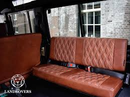 land rover defender 110 usa corris grey v8 brown leather diamond stitch front runner roof rack 25