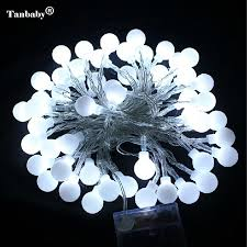 Us 9 02 22 Off Tanbaby 5m 50leds Battery Powered Led Ball String Fairy Lights Lamps For Patio Garden Camping Christmas Holiday Party Wedding In Led