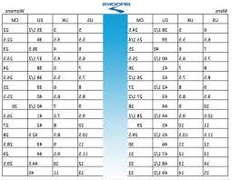 Womens Sneakers Size Conversion Chart Digibless
