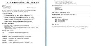 Resume Freshers Format Best Resume Format For Fresher 7