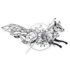 Vodotěsný Dočasné Tetování Liška Vlk Vlky Velryba Sova