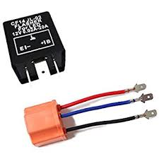 amazon com 3 pin cf 13 electronic flasher relay fix for led turn 3 pin cf 13 led flasher fix w conversion wire for both cf13 and cf14 sockets for led turn signal light bulbs hyper flash fix