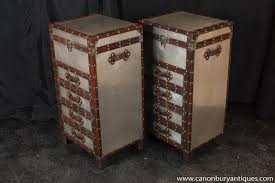 Luggage With Drawers Trunk Bedside Table On Wheels Achica Antique Rustic Trunk Box