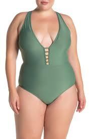 Athena Swimwear Size Chart Athena V Neck Solid One Piece Swimsuit Nordstrom Rack