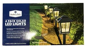 Alpan Solar Light Batteries Members Mark Alpan 4 Pack Weathered Zinc On Cast Aluminum Garden Outdoor Light