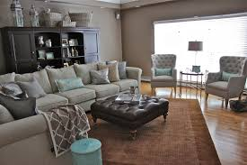 grey walls brown furniture. Brown Laminated Wooden Floor Carpet Wardrobe Grey Sofa With Cushion Wall White Window And Walls Furniture