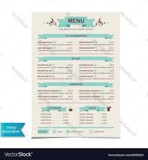 Cafe Menu Template Cafe Menu Template Design