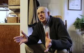 the gospel according to wendell berry the nation wendell berry talking to a reporter after he was awarded the dayton literary peace prize in 2011 ap photo ed reinke