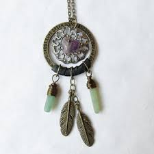 Small Dream Catcher Necklace Delectable Vegan Dream Catcher Necklace Fabric From Six Dandy Lions My